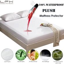 LFH Soft Plush Waterproof Mattress Pad Cover Winter Luxury Velour Fleece Mattress Topper For Bed Mattress Protector Anti Mites