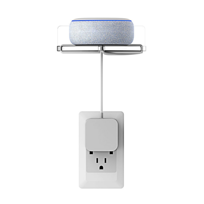Support Audio support mural support multi-usages plateau Smart Home accessoires pour Echo Dot 3/2, Google Home/Google Home Mini