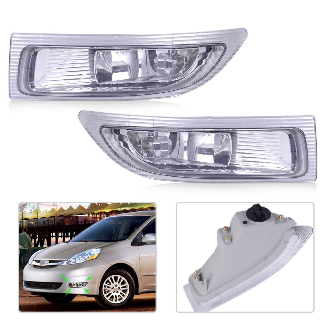CITALL 312-2020R-AF 312-2020L-AF 2 pcs Droite Gauche Avant Brouillard Lampe Lumière avec Ampoules fit pour Toyota Sienna 2004 2005