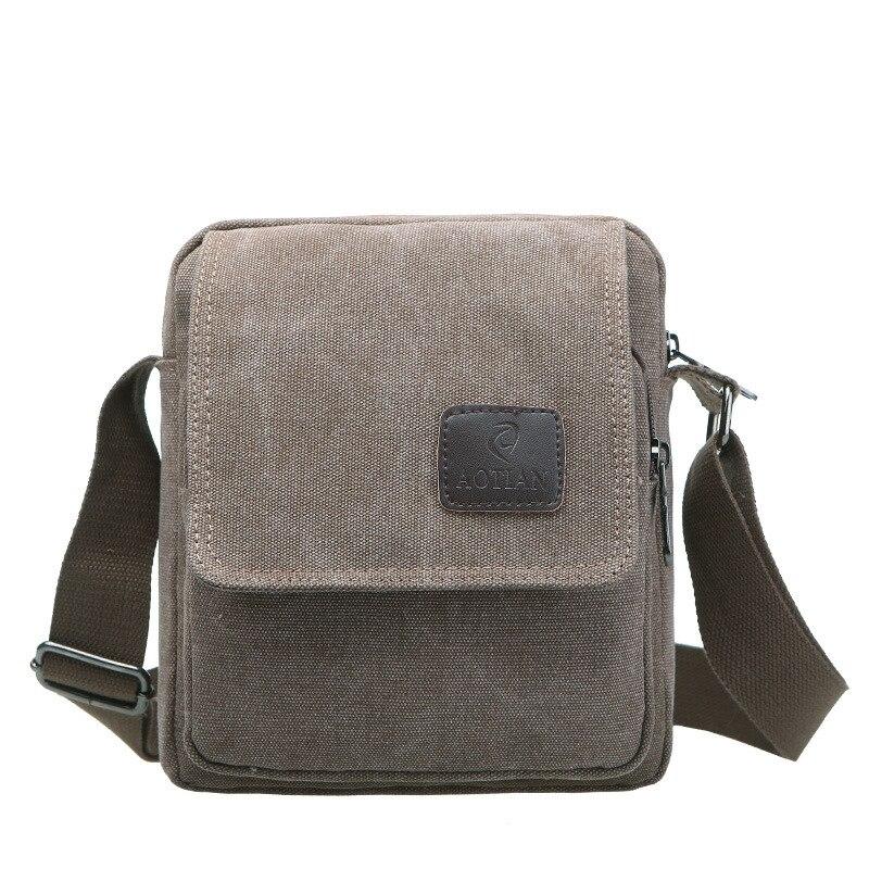 Simple Men Small Handbag Quality Canvas Messenger Bags Brand Designer Flap Crossbody Bag Casual Travel Cover Purse Male Bolsas