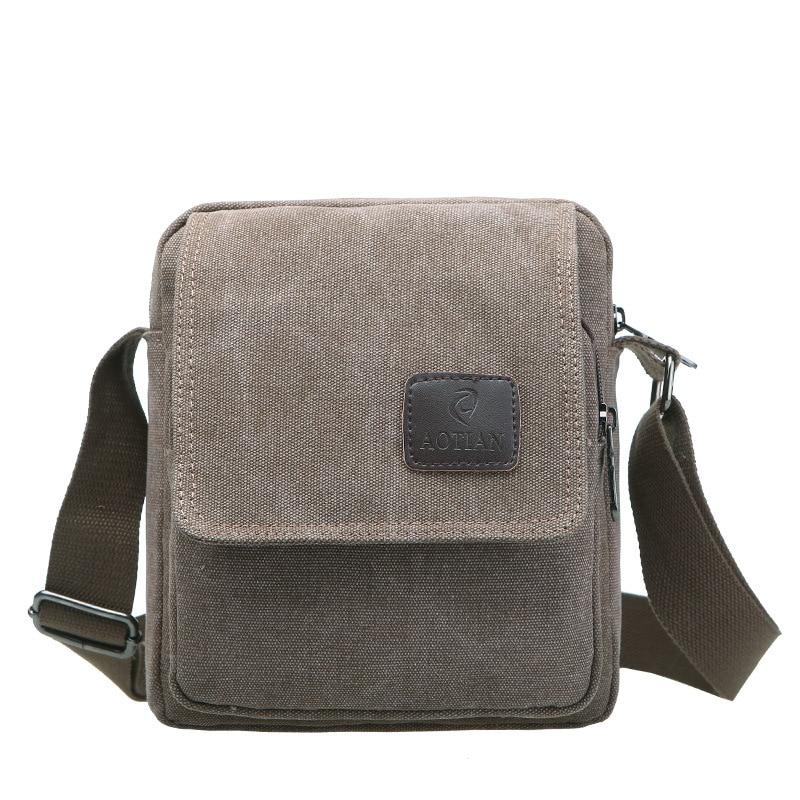 Simple Men Small Handbag Quality Canvas Messenger Bags Brand Designer Flap Crossbody Bag Casual Travel Cover Purse Male Bolsas casual canvas satchel men sling bag