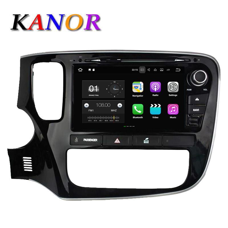 Quad Core Android 4 44 Mitsubishi Outlander 2015 Car DVD Player 1024 600 Capacitive GPS Autoradio