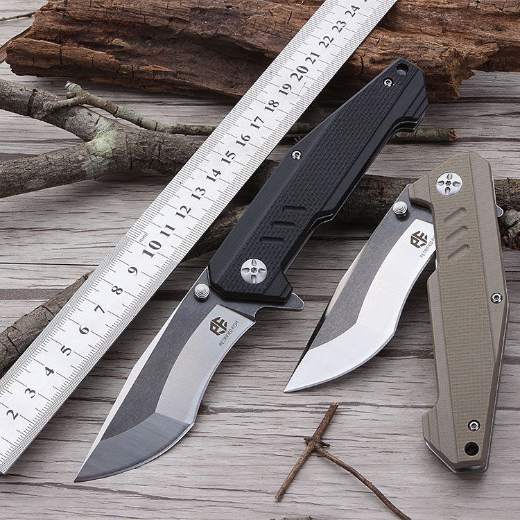 Petrified fish PF712 outdoor knife AUS-8 blade Bearing tumbling folding knife G10 tactical knife Utility Pocket knife цена 2017