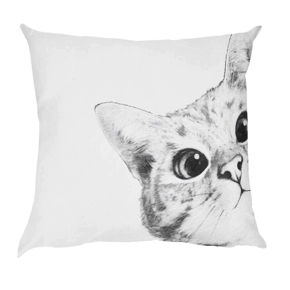 Gajjar Bonito Pattern Cat Impresso Fronha Decorativa Capa de Almofada Throw Pillow Case Para Sofá do Poliéster funda kussenhoes cojin
