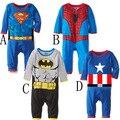 Superman homem aranha capitão américa macacão escalada roupas roupas de bebê romper