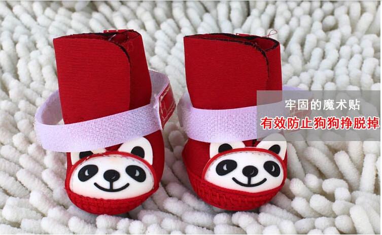 2015 новый кунг-фу панда собаки снегоступы / / обувь мягкий теплый хлопок загрузки 4 шт./комп., 3 цветов бесплатная доставка + подарки