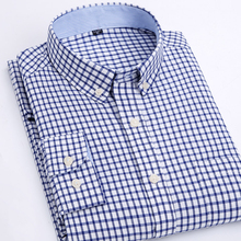 MACROSEA/Мужская одежда, оксфордские рубашки, весна и осень, клетчатые \ полосатые Умные повседневные рубашки, Мужская модная рубашка на пуговицах с воротником
