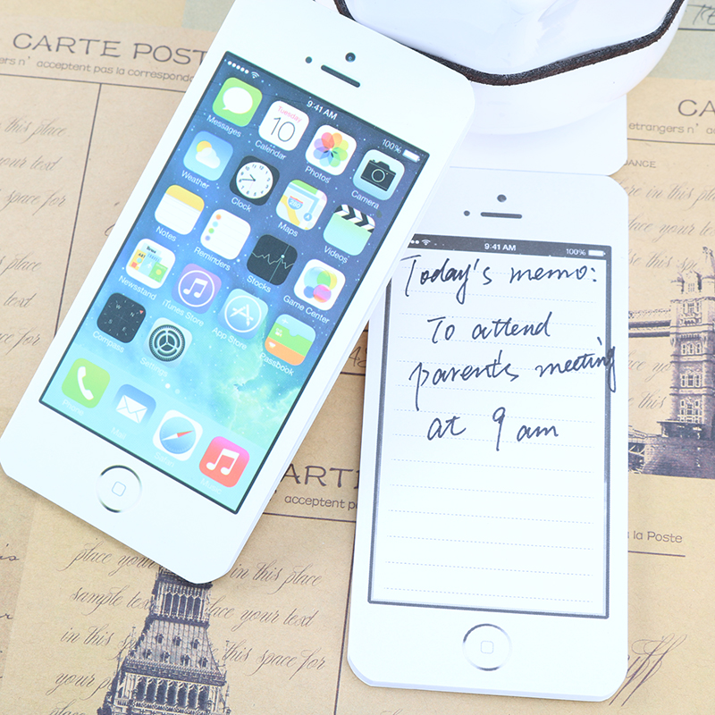 White Fashion Sticky Post It Note Paper Cell Phone Shaped Memo Pad Memo Pads Paper Note Pad Diy For Iphone 5 цена и фото