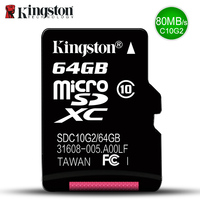 Kingston Micro SD карты памяти 32 ГБ 16 ГБ 64 ГБ Class10 mini sd карты Class4 8 ГБ 16 ГБ с TF Card Reader для Android-смартфон