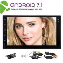 Android 7.1 2din Car GPS Navigation HD Touchscreen Autoradio Octa-core Radio Stereo support WiFi 4G/3G OBD2 FREE Wireless Camera