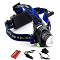 Waterproof LED Headlight CREE Q5 Headlamp with 18650 Battery 2 Chargers Head Lamp LED Flashlights Head Torch Camping Fishing