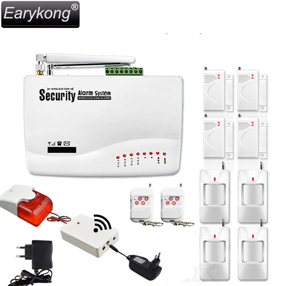 Big Promotions Hot Selling Wireless Police Siren GSM Alarm System Wireless Sensor Alarm 433MHz Door Open Detector Motion PIR 1set home security protection gsm sms wireless alarm system pir motion detector smoke alarm magnet door sensor wireless siren