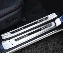 Lsrtw2017 Stainless Steel Car Door Sill Strip Threshold Trims for Kia Kx5 Sportage Forte Rio 2016 2017 2018 2019 2020 high quality door sill step scuff plate external threshold for kia sportage kx5 2016 2017 stainless steel car body cover pedal