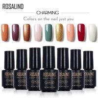 ROSALIND Black Bottle 7ML PURE Color 58 Colors 01-30 Gel Nail Polish Nail Art Nail Gel Polish UV+LED Macaron Long-Lasting Primer
