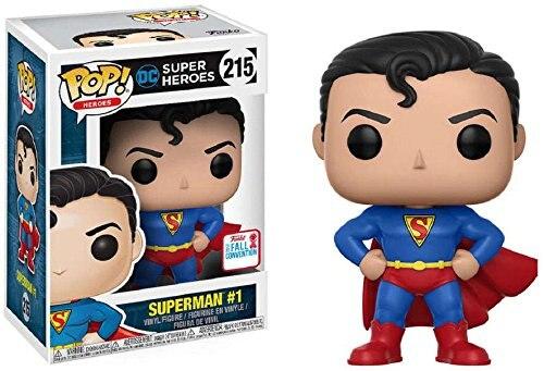 2017 NYCC exclusif Funko pop officiel DC Super héros Superman (première apparition) #1 vinyle figurine à collectionner modèle jouet