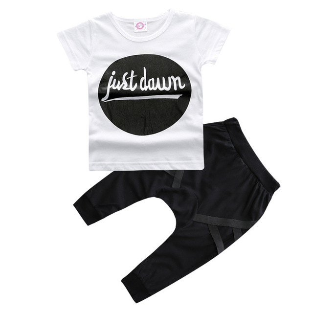 f478a15679283 2017 Spring summer fashion baby clothes sets European and American T shirt  + pants suit 0 2 years baby boy / girl clothes -in Clothing Sets from ...