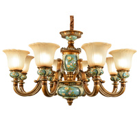 European Chandelier Living Room Led Lamp Restaurant lights Bedroom Resin Atmosphere Luxurious Antique Style Chandeliers
