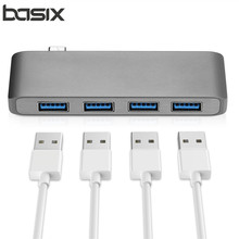 basix USB 3.0 hub in 4 port  type c hubs adapter with High-speed transmissionport type-c for MacBookPro pro