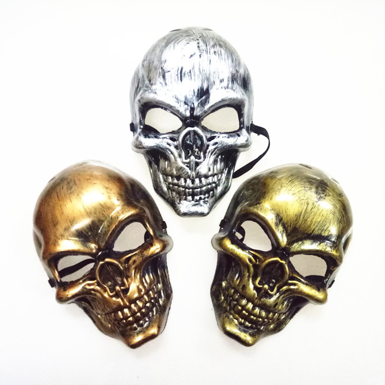 4color Party Maskss Scary Ghost Skull Skeleton Skull Head  Outdoor Masks For Halloween Party Decor Silver Color Masks Costume