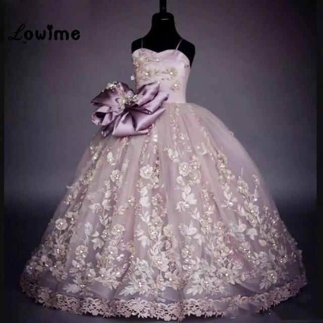 3f9a7be5e6 Beauty Pageant Dresses For Girls Flower Girl Dresses Ball Gown Communion Dresses  2018 Robe Fille Enfant Mariage De Soiree
