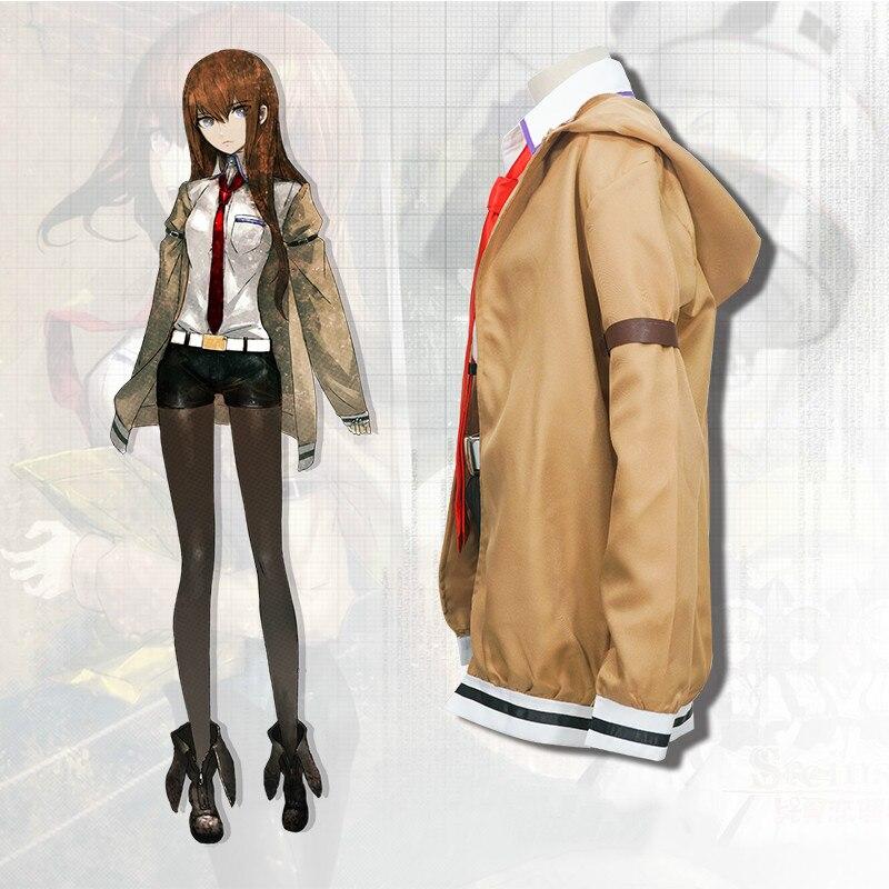 Steins Gate 0 Kurisu Makise Outfit Uniform Jacket Pants Full Set Cosplay Costume
