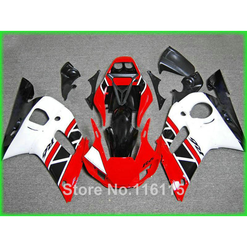 Free customize fairing kit for YAMAHA R6 1998 1999 2000 2001 2002 YZF-R6 red white black YZF R6 fairings set 98-01 02 NX56
