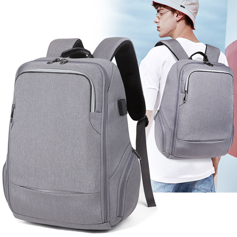 2018 New Business Computer Backpack Travel Waterproof Men's Shoulder Bag Usb Rechargeable Backpack Student Function Bag outdoor sports double shoulder bag student bag computer bag waterproof pack free shipping