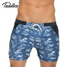 Taddlee марка мужчины купальники купальники пляж совета серфинг шорты плюс большой размер традиционный xxl основные плавать боксер стволы банные костюмы