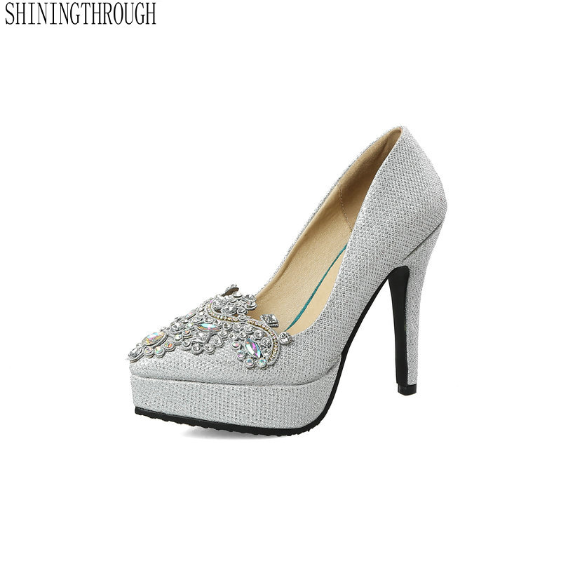 Big <font><b>Size</b></font> 38 39 <font><b>Sexy</b></font> Pumps Wedding Women Fetish <font><b>Shoes</b></font> Concise Woman Pumps High Heel Stripper Flock Pumps <font><b>11</b></font> cm image