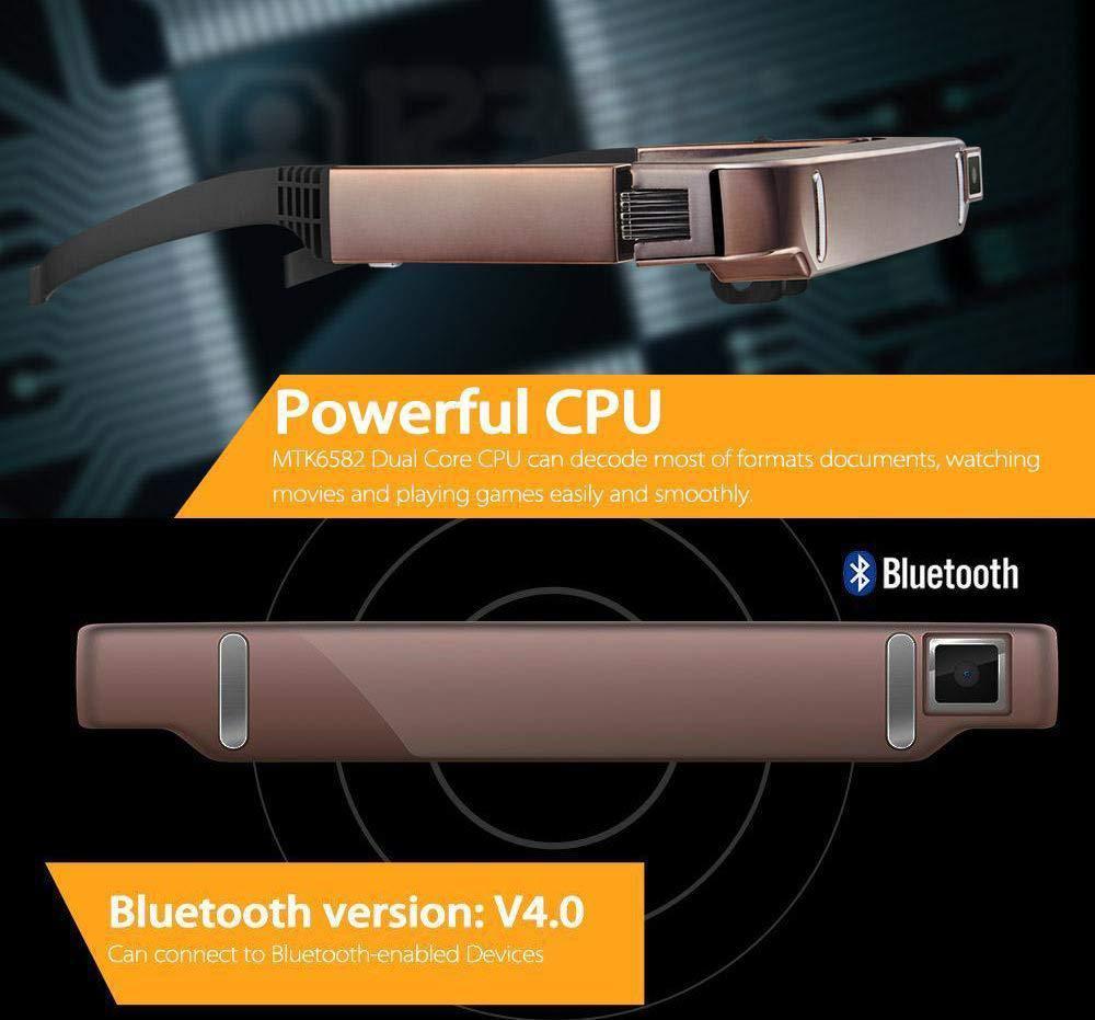 BEESCLOVER Vision 800 Smart Android WiFi Gläser Breite Bildschirm Tragbare Video 3D Gläser Private Theater mit Bluetooth Kamera r25 - 4