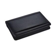 1 шт., портативный чехол-книжка A5 для бизнес-портфолио, держатель для блокнота, папка, чехол для документов, органайзер из искусственной кожи для бизнеса