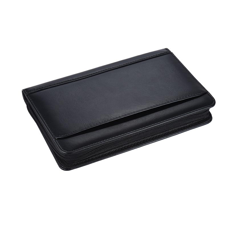 1pcs Portable A5 Padfolio Business Portfolio Padfolio Writing Pad Holder Folder Document Case Organizer PU Leather For Business