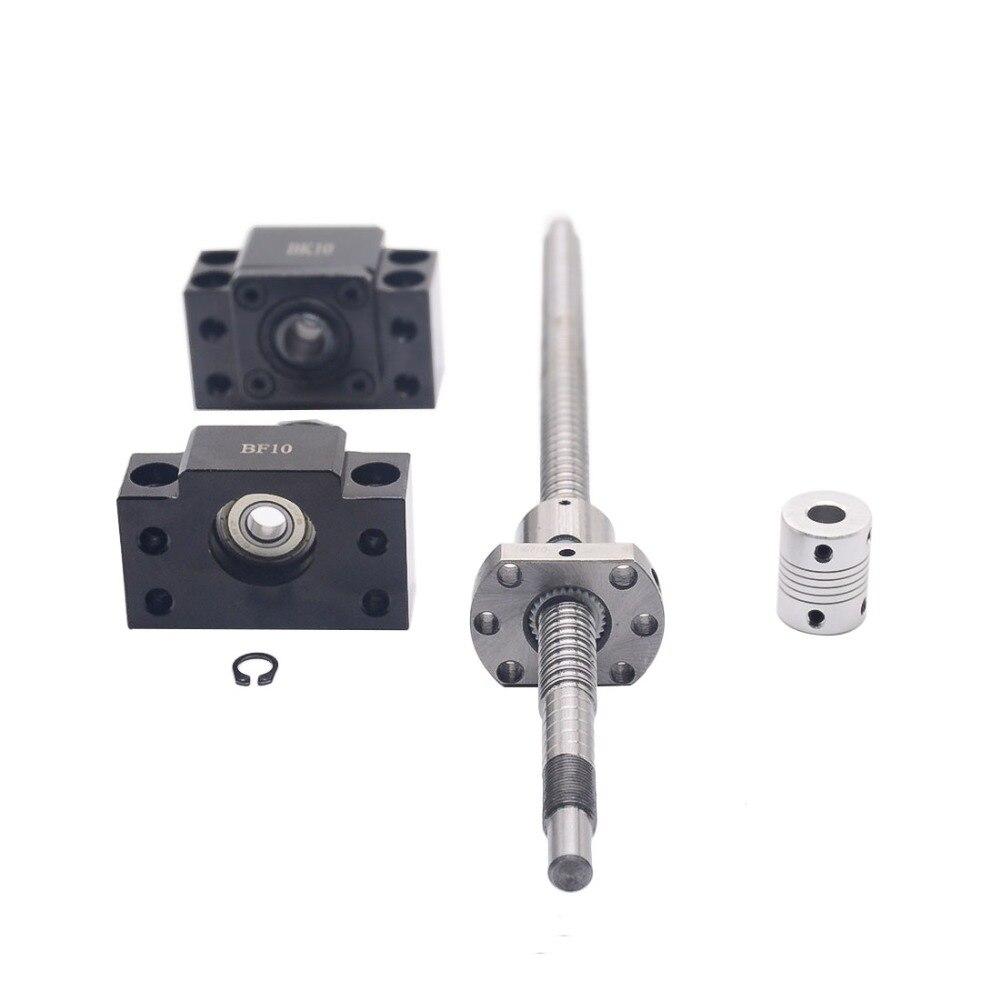 Ensemble SFU1204: vis à billes roulées SFU1204 C7 avec extrémité usinée + écrou à billes 1204 + support d'extrémité BK/BF10 + coupleur pour pièces de CNC RM1204 - 5