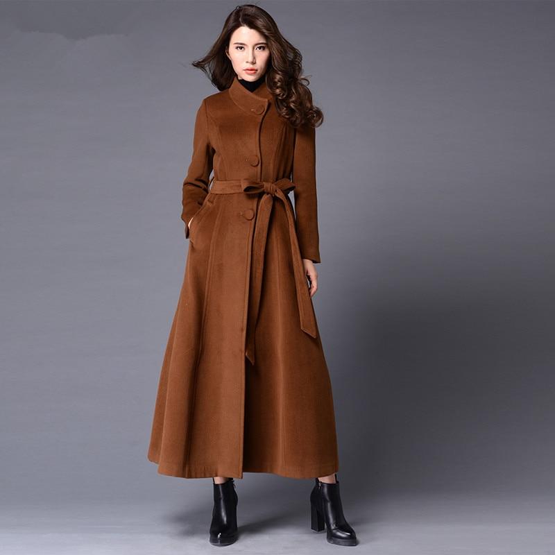 Плюс Размеры 3XL зимнее пальто Для женщин утепленные ботфорты кашемировое пальто Макси шерстяные пальто парка зимняя куртка Для женщин боле