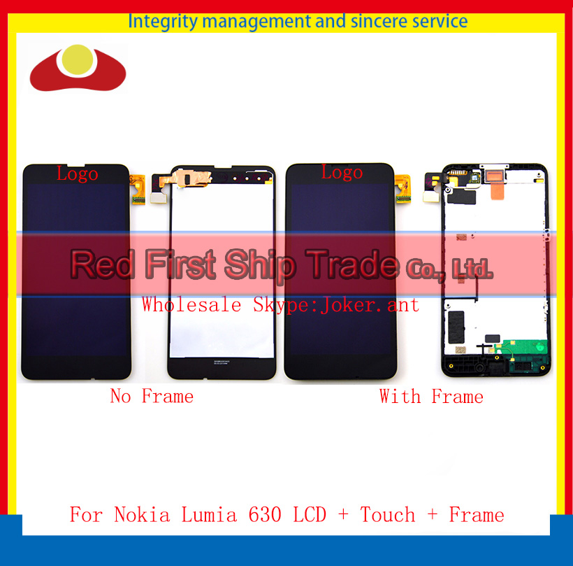 20Pcs/lot DHL EMS  High Quality For Nokia Lumia 630 Full Lcd Display Touch Screen Sensor Digitizer Assembly Complete With Frame bosch 2607019457