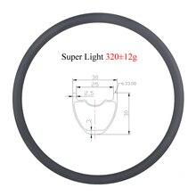LIENGU светильник 320 г 29 дюймов MTB XC бескамерный 30 мм clincher hookless carbon rim 29er 30 мм глубокое колесо для горного велосипеда 24H