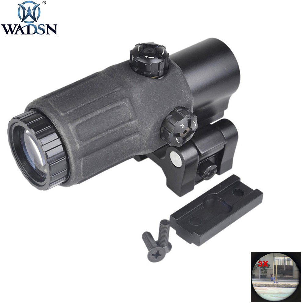 WADSN Hunting Optics ET Style G33 3X Magnifier Holographic Rilescope Tactical Rifle Scope Red Dot Reflex