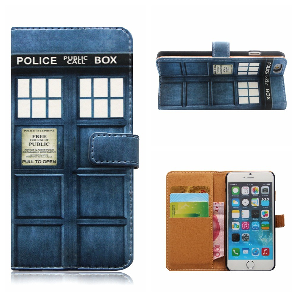 NEW Tardis Doctor Who Leather Back Cover Skin For Smasung S6 Edge