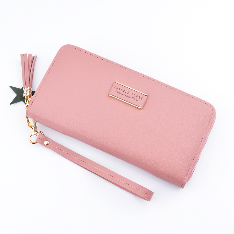 GBSELL Women Clutch Long Bow Pendant Purse Wallet Card Holder Handbag Bag Purple