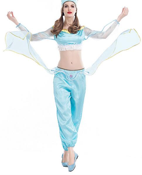 halloween adult women jasmine costume Aladdin's Princess cosplay party hot selllcostume role-playing  Belly dance dress