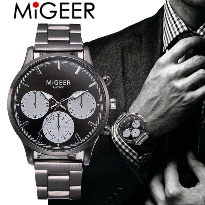 Quartz Watches Objective Vip Dropshipping Quartz Wristwatches Migeer Retro Design Leather Band Analog Alloy Quartz Wrist Watch Gifts Relogios Masculino