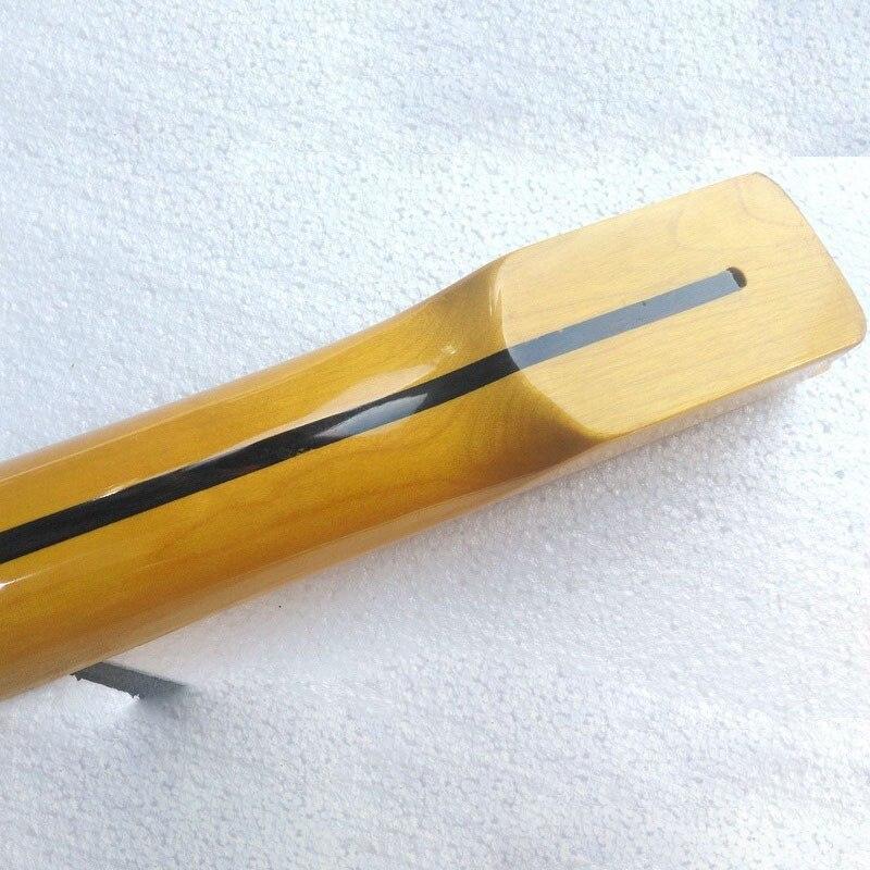 Livraison gratuite bonne qualité haute brillance jaune guitare cou avec ligne médiane