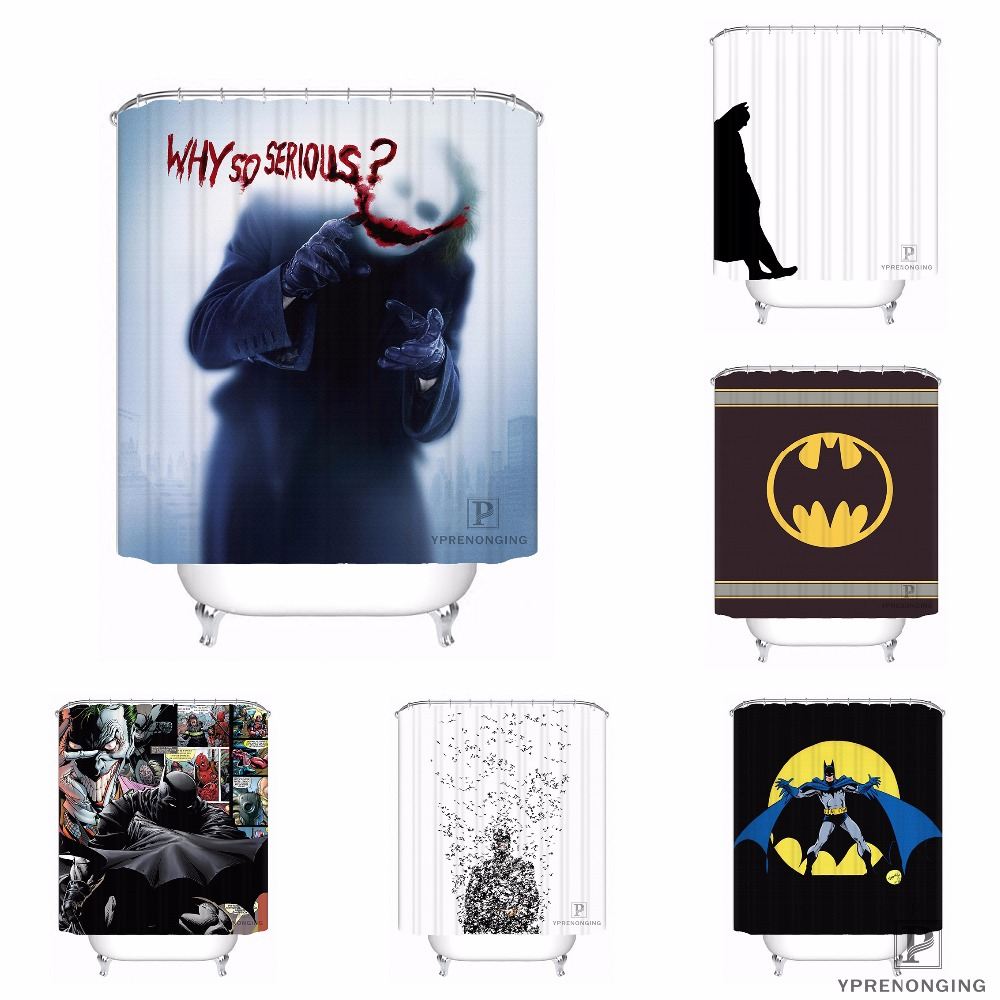 Custom Batman Comics Joker Harley Quinn Shower Bath