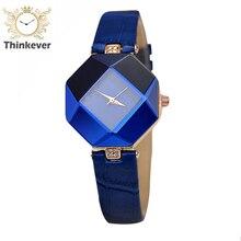 Cristal Cz Diamond Reloj Mujeres Moda Pu Estrecho Cinturón De Cuero Pulseras de reloj de Pulsera de Cuarzo Ocasional Relojes Relogio Feminino
