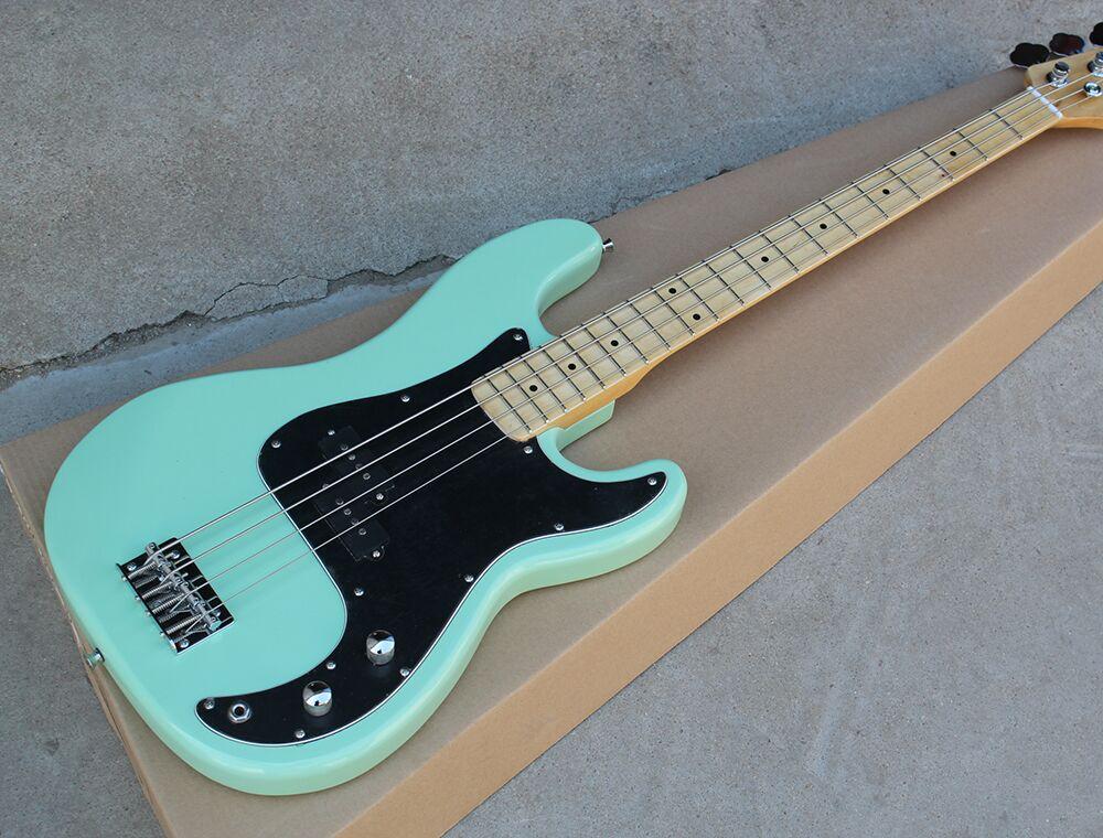Nuovo di alta qualità A Basso prezzo GYPB-6006 di luce di colore verde nero piatto Precision Bass Guitar, NESSUN Trasporto libero