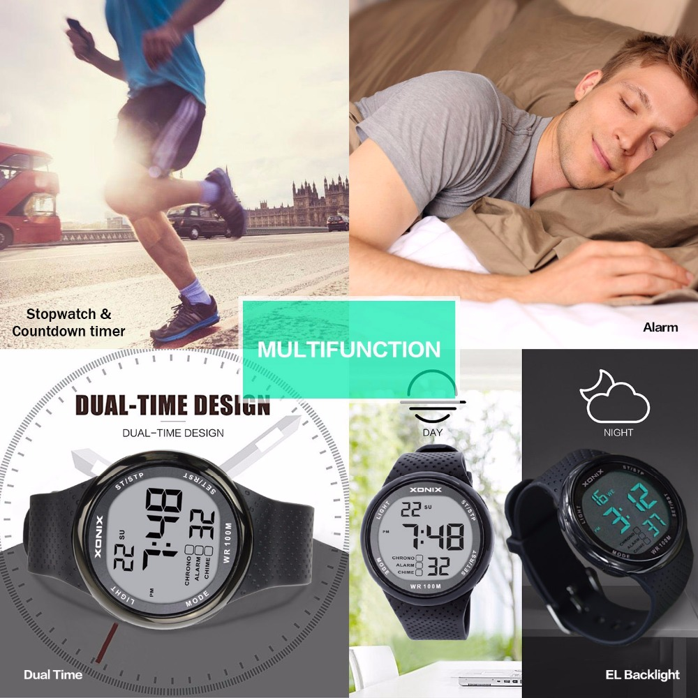 masculino led digital mergulho reloj hombre esporte