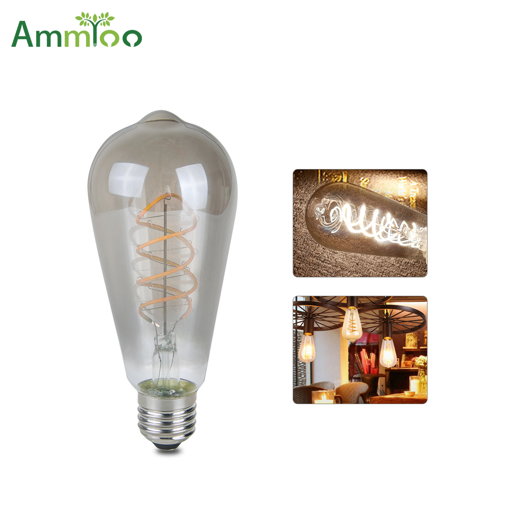 vintage led lamp e27 led filament bulb lamp 220v dimmer. Black Bedroom Furniture Sets. Home Design Ideas
