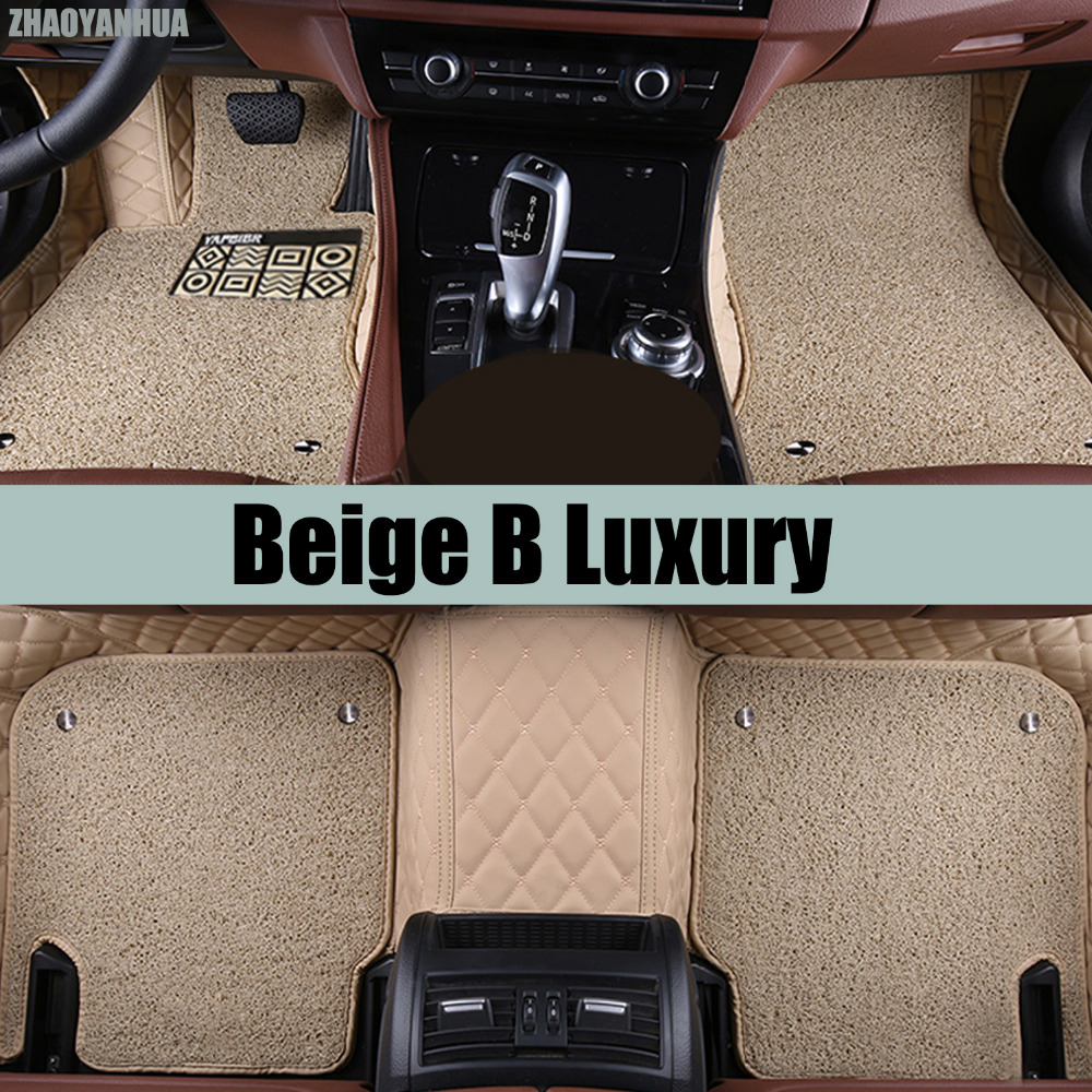 ZHAOYANHUA car floor mats for BMW X5 E70 F15 PVC Leather anti slip waterproof car styling full cover rugs ZHAOYANHUA carpet line custom make waterproof leather special car floor mats for audi q7 suv 3d heavy duty car styling carpet floor rugs liners 2006