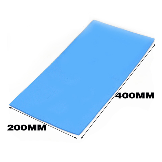 200mm*400mm*0.5mm Blue Thermal Pad GPU CPU Heatsink Cooling Conductive Silicone cpu cooling conductonaut 1g second liquid metal grease gpu coling reduce the temperature by 20 degrees centigrade