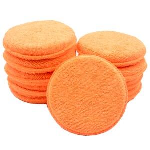 Image 1 - 10 pcs Suave Microfibra Aplicador de Cera Do Carro Almofadas de Polimento Esponja Remover A Cera Detalhamento Wash Limpa Cuidados de Pintura Cor Laranja